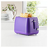 Tesco 2 Slice Toaster, 2TV15 - Violet