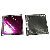BRIGHT PINK AND SILVER TAGS 4PK