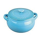 Denby Ceramic Casserole Dish, Azure Blue