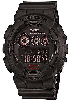 Casio G-Shock Mens Black World Time Stopwatch Watch GD-120MB-1ER