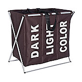 Wenko Trio Laundry Collector - Brown
