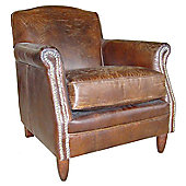 Aspect Design by Wayfair Vintage Studded Front Leather Chair