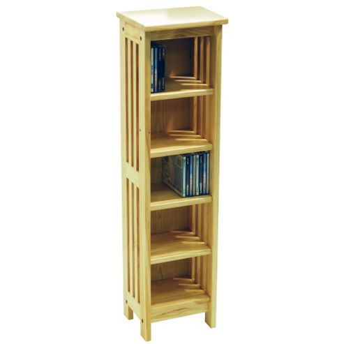 Techstyle Solid Wood CD / Media Storage Shelves - Natural