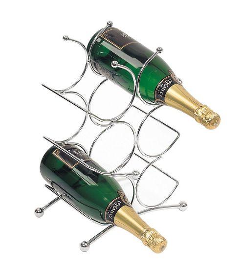 George Wilkinson 6 Bottle Circolare Wine rack - Chrome