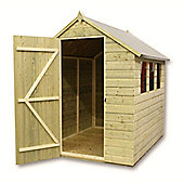 10ft x 5ft Pressure Treated T&G Apex Shed + 4 Windows + Single Door