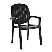 Nardi Kappa Chair in Anthracite (Set of 2)