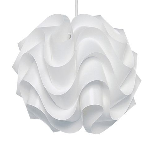 MiniSun Como Ceiling Pendant Light Shade in White - 41cm x 42cm x 42cm