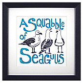 Animal Friends Framed Print - Seagulls