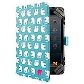 "Tesco Universal Tablet Case 7 to 8""(for Hudl, Kindle Fire/HD, iPad Mini, Samsung Tab) - Turquiose Elephant"