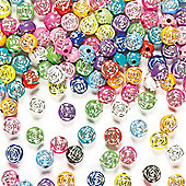 Rose Sparkle Beads (Pack of 400)