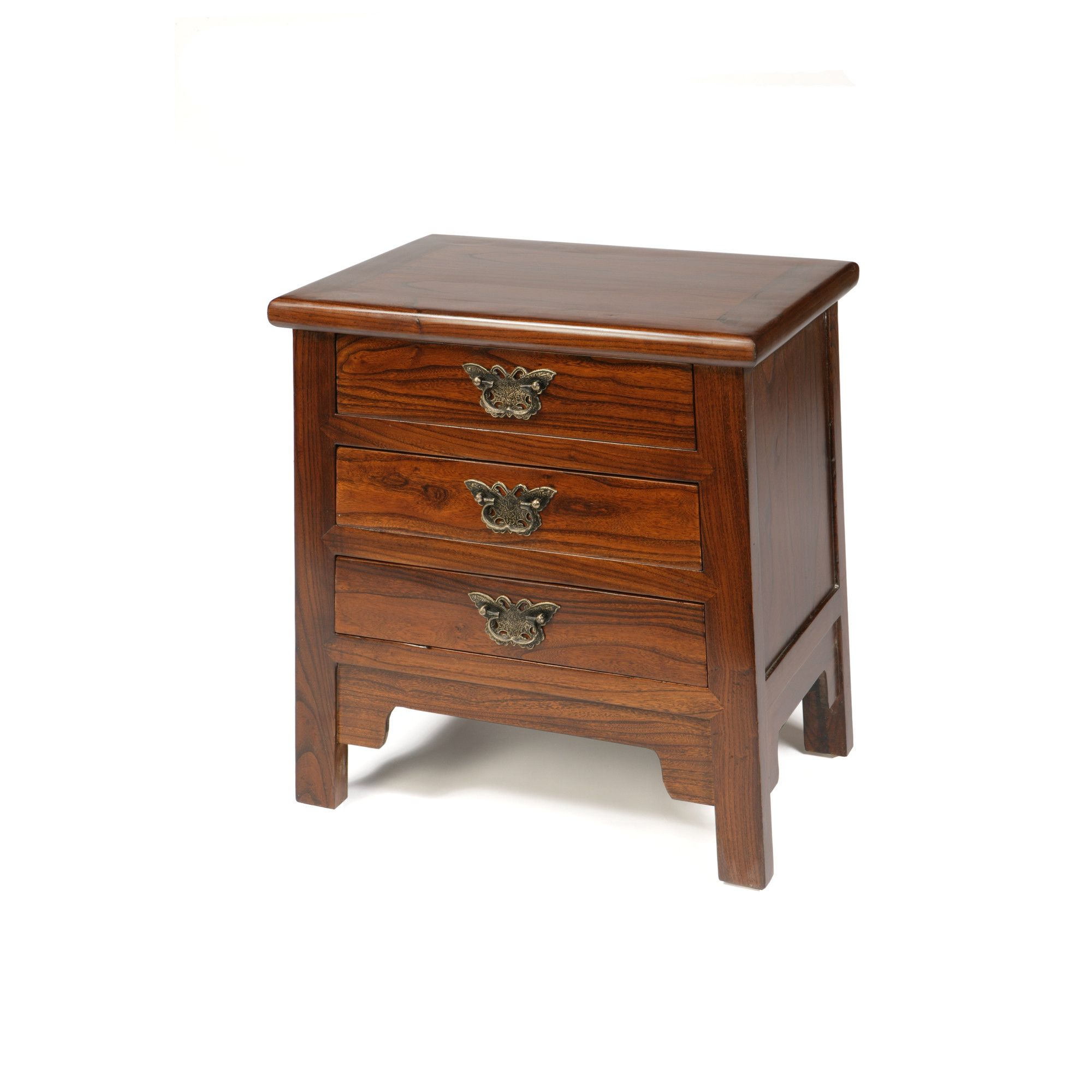 Shimu Chinese Classical Butterfly Drawers - Warm Elm at Tesco Direct