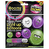 Illoom 15 Pack Funny Faces Light Up Balloons