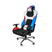 AK Racing Premium V2 Gaming Chair Red White & Blue Perfect for office workers and gamers PU Leather AK-K0909-1