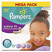 Pampers Active Fit Size 5+ Mega Pack - 68 nappies