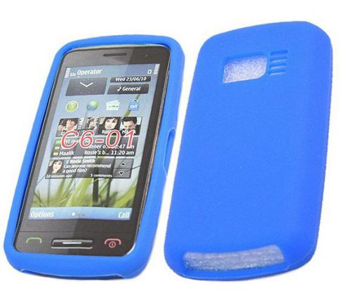 iTALKonline SoftSkin Silicone Case Blue - For Falsekia C6-01