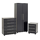 Ideal Furniture New York Bedroom Collection - Black Gloss