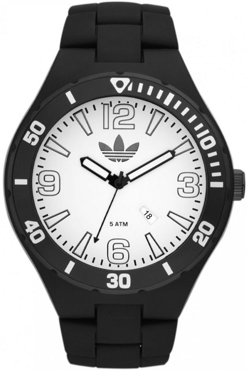 Adidas Unisex Sports Black Rubber Strap Watch ADH2736