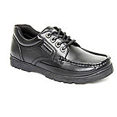 Us Brass Mens Stubby 2 Black Work Wear Lace-up Smart Shoes - Black