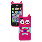 Trendz iPhone 4 and iPhone 4S Pink Owl Character Case (Pink)