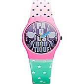 Paul's Boutique Betsy Ladies Skull Pattern Watch - PA016RDGR
