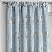 Rectella Montrose Duck Egg Blue Floral Jacquard Curtains -229x183cm