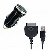 2in1 In-car Charger with Apple 30-pin cable 2.1A