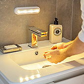 Warm White LED Touch Operated Battery Cupboard Light