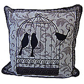Country Club Tapestry Scatter Cushion with Inner, Bird Cage