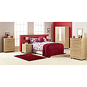 Ideal Furniture Bobby Triple Plain Wardrobe - Walnut