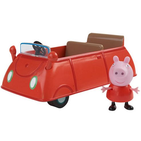 Peppa Pig Vehicle with Figure - Classic Red Car