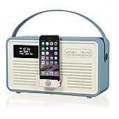 VQ Retro MK II DAB/DAB+/FM/Bluetooth Radio with Apple Lightning Dock (Blue)