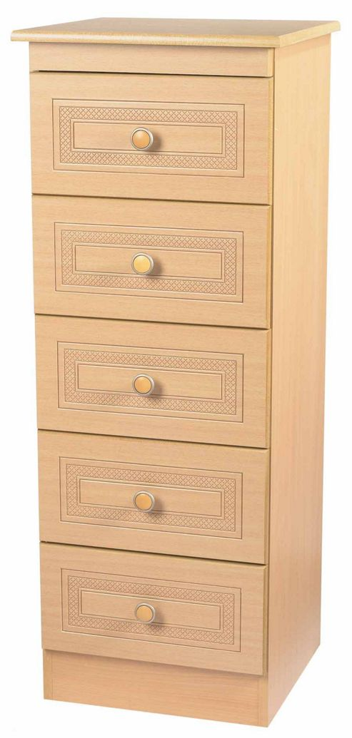 Welcome Furniture Corrib 5 Drawer Chest with Locker - Pine