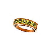 QP Jewellers 2.25ct Peridot Prestige Ring in 14K Rose Gold