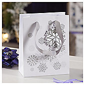 Silver Snowflake Christmas Gift Bag, Small