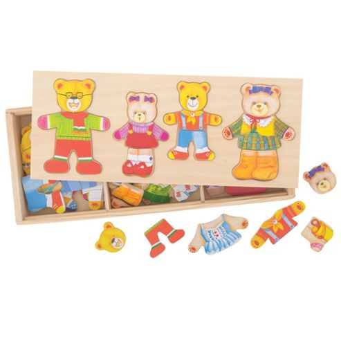 Bigjigs Toys BJ766 Wooden Dress Up Bear Family