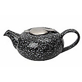 London Pottery 4 Cup Pebble Shaped Filter Teapot, Flecked Black