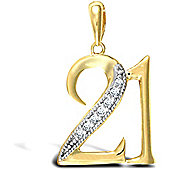 Jewelco London 9ct Yellow gold 21 Pendant
