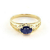 QP Jewellers 1.15ct Sapphire Catalan Filigree Ring in 14K Gold