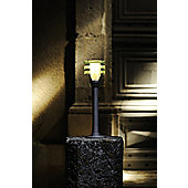 Garden Lights Vitex 1 Light Bollard in Silver