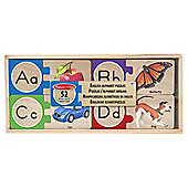 Melissa & Doug Skill Builders Letters 52-Piece Wooden Puzzle