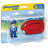 Playmobil Man with Raft