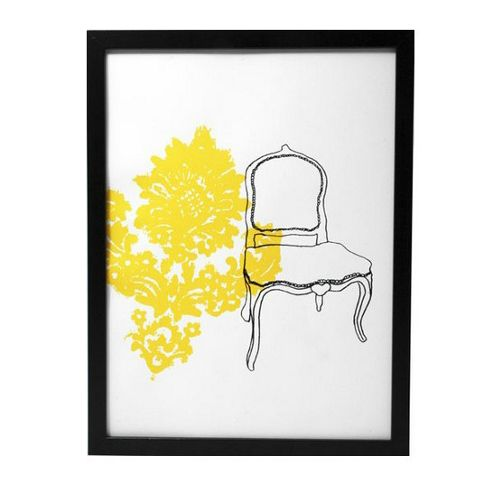 Hand printed chair print