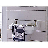 Catherine Lansfield Home Cosy Corner Swing Stag Jacquard 500gsm Hand Towel Navy