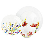 Tesco Meadow Flower 12 Piece, 4 Person Porcelain Dinner Set