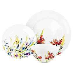 Meadow Flower Dinner Set, 12 Piece, 4 Person, Porcelain