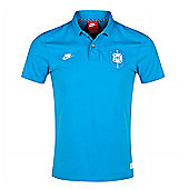 2014-15 Brazil Nike Covert Polo Shirt (Blue) - Blue
