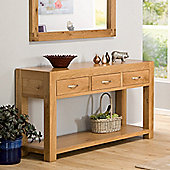 Chepstow Oak 3 Drawer Console Table