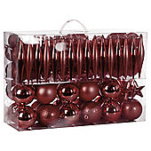 Festive Red Mixed Bauble Pack, 100 Piece
