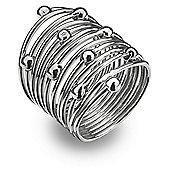 IT Diamonds Rhodium SPRING Diamond Wide Coiled Ring