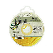 Rattail with Re-Useable Bobbin - Yellow - 20yds